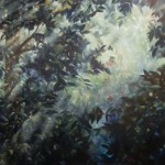"POETRY OF TREES oil on canvas 64"" x 120"""
