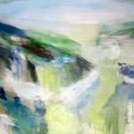 "DREAM LANDSCAPE oil on canvas 42"" x 44"""