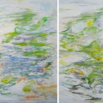 "UNTITLED DIPTYCH oil on canvas 48"" x 60"""