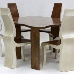"FISHER TABLE w/6 FAME CHAIRS custom fine art furniture 30"" x 48"" x 96"""