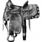 "B. F. SMITH & SON SADDLE #1 graphite on mylar 55"" x 53"""