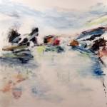 "PACIFIC COAST oil on canvas 35"" x 36"""