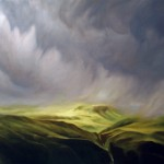 """FAR GREEN COUNTRY oil on canvas 36"""" x 48"""" SOLD"""