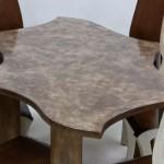 FISHER TABLE DETAIL custom fine art furniture