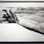 "JESUS CHRIST THAT MUST HURT! graphite on mylar 54"" x 108"""