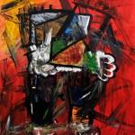 "CANTATA oil on canvas 79"" x 67"""