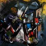 "OPUS oil on canvas 79"" x 67"""