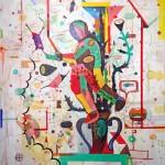 "GARDEN WALKER 2 oil on canvas 60"" x 48"" SOLD"