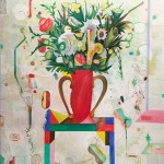 """GARDENER'S RED VESSEL oil on canvas 60"""" x 48"""" SOLD"""