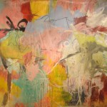 "PASIPHAE oil and mixed medium on canvas 103"" x 125"""