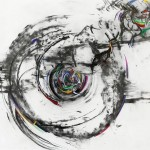 "TRANSFIGURATION charcoal, graphite, gouache on paper 18""x24"""