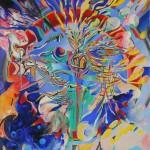 """SALVEZZA oil on canvas on panel, framed 24""""x20.5"""""""