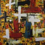 "MATERIA oil on canvas 48"" x 60"""