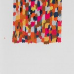 """SHIMMER STUDY P16 (PATTERN 6) gouache on paper 10"""" x 6.5"""""""