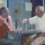 "CHESS oil on canvas 16"" x 20"""
