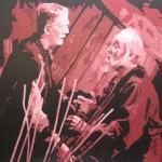 """CHOCOLATE FRANKENSTEIN oil on canvas 48"""" x 60"""""""
