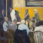 "DINERS oil on canvas 24"" x 20"" SOLD"