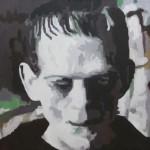 """DIGITAL FRANKENSTEIN oil on canvas 24"""" x 36"""""""