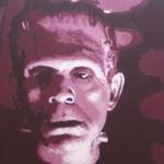 """RED FRANKENSTEIN oil on canvas 24"""" x 36"""""""