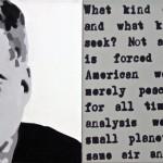 "JFK diptych oil on canvas 18"" x 48"""