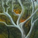 """MADRONE TREE oil on canvas 9"""" x 6"""" SOLD"""