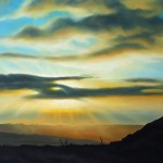 "TENDER oil on canvas 36"" x 72"""