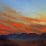 """ON THE ROAD TO RIO GRANDE oil on canvas 10"""" x 20"""""""