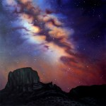 """EDGE OF HEAVEN oil on canvas 55"""" x 55"""" SOLD"""