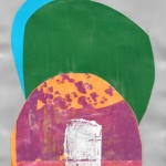 "MONTE PICADILLO mixed media, collage on paper 11"" x 8.5"""