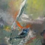 "UNDER NIAGARA oil on canvas 41.25"" x 31"" SOLD"