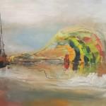 """ZEPHYR oil on canvas 41.25"""" x 59.75"""""""