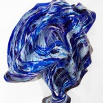 """FLAGRANT reverse painted on melted plexiglass 30""""x24""""x7"""""""