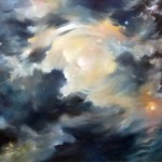 """AWE AND WONDER oil on canvas 60"""" x 114"""""""
