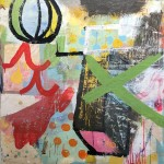 """ALL THAT I SEE RIGHT NOW mixed media on panel 37.5"""" x 30.25"""" SOLD"""